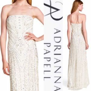 Adrianna Papell embellished scroll dress